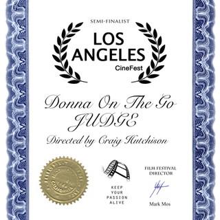 LA Cinefest Donna On The Go- JUDGE  Dire