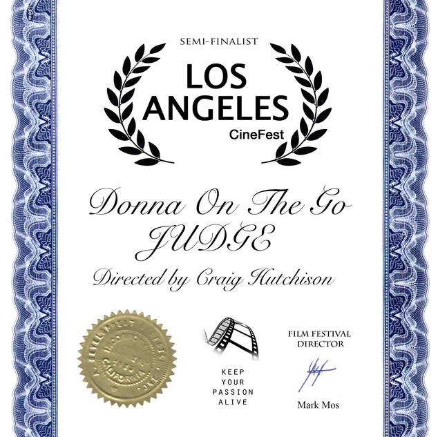 LA Cinefest Donna On The Go- JUDGE  Dire