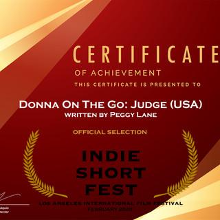 Indie Series Award ME JUDGE SCRIPT PEGGY