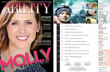 ABILITY MAGAZINE cover with Molly Shanno