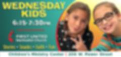 FUMC-WednesdayKids-DigPoster 803523001A.