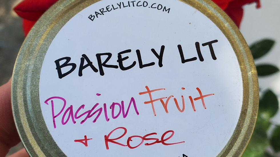 Passion Fruit and Rose 4oz