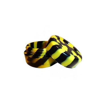 Contenitore silicone nero/giallo