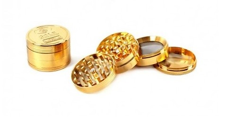 Grinder Metallo Oro - Diametro 52 mm - 4 parti