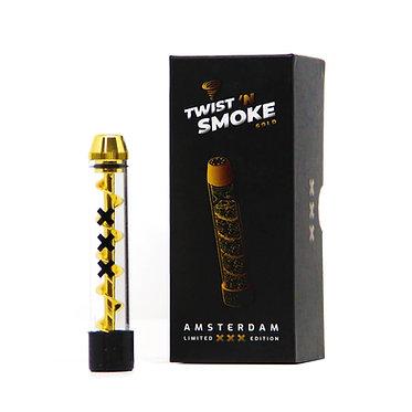 Twist 'n Smoke Twisted Glass Blunt Oro Amsterdam Edizione Speciale