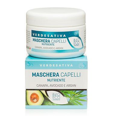 Maschera capelli nutriente - Canapa, avocado e argan - 200 ml - VERDESATIVA