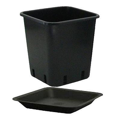 Vaso quadro 6,5L (18x18x23cm) con sottovaso