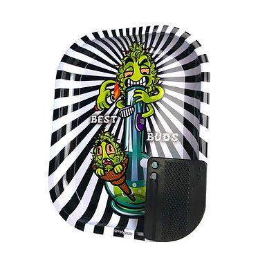 Vassoio in Metallo SMALL + Grinder Card magnetica - Smoke Me