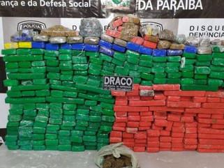 Polícia apreende 350 kg de maconha escondidos em sítio no Sertão paraibano