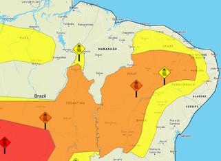 Inmet emite alertas amarelo e laranja de baixa umidade para 147 municípios paraibanos
