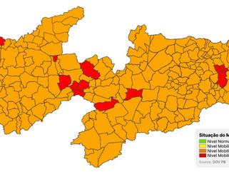 Plano Novo Normal: dos 12 municípios paraibanos na bandeira vermelha, 6 são da região de Patos