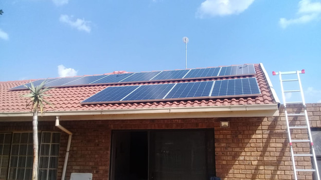 Solar Panels on roof of a house 2020