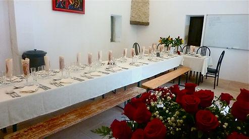 Anniversaire de Mariage à L'Arbre d'Or dans la salle d réception.