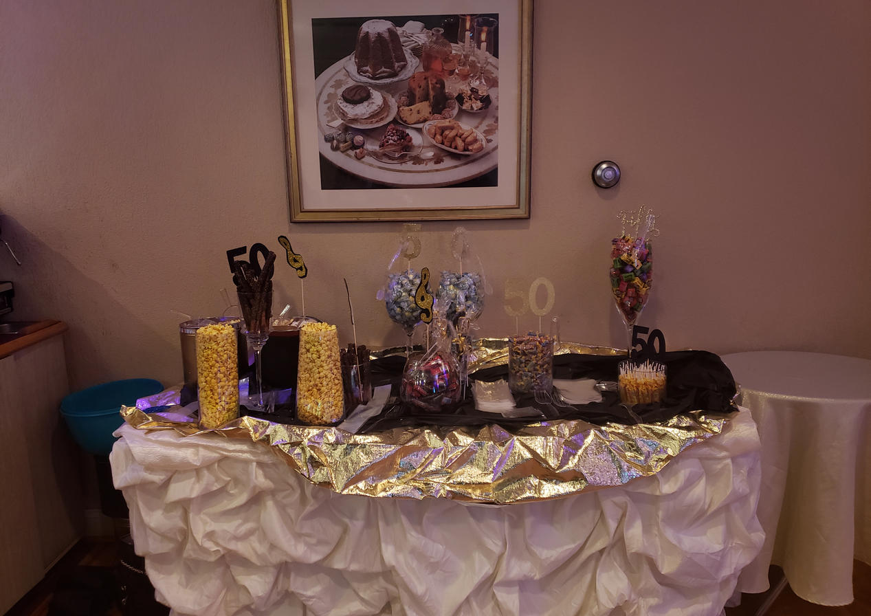 Birthday party snack set-up by Passion Driven Parties