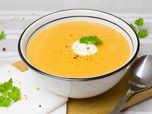 Sopa de zanahoria y piña