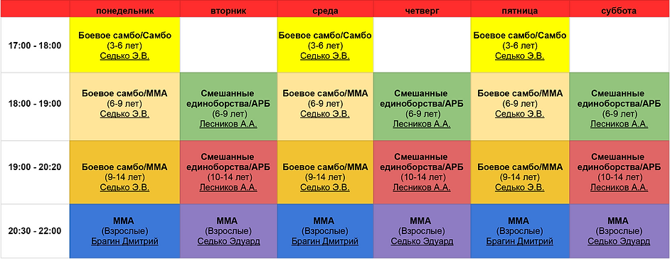 Расписание Витязь Pro Москва