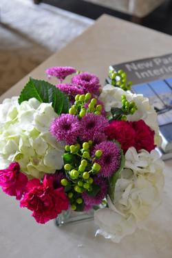 Tennyson Flowers on Table