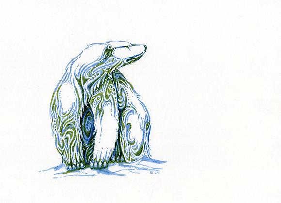 Polar bear in Blue