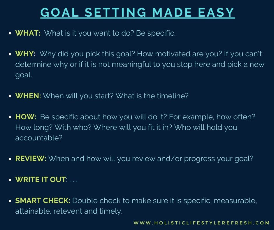 how to set goals | easy way to set goals | goal setting for beginners