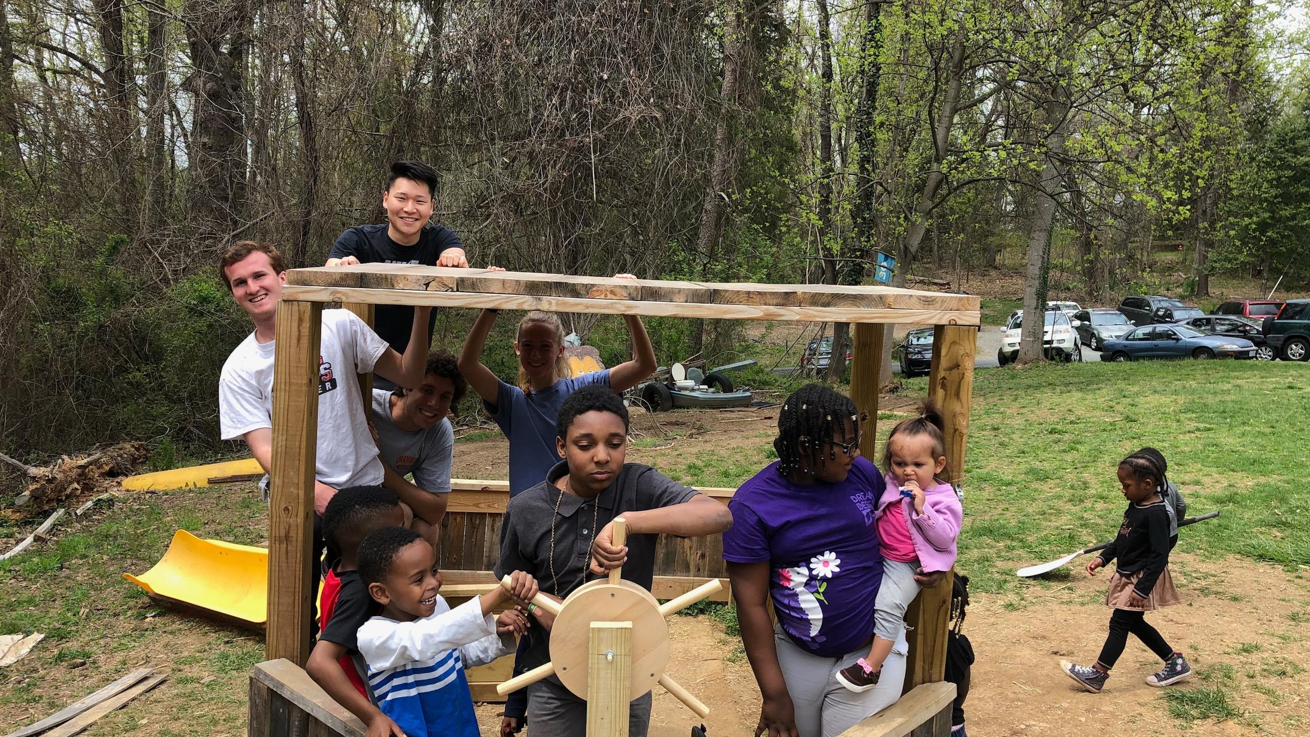 Playground Team with School Children