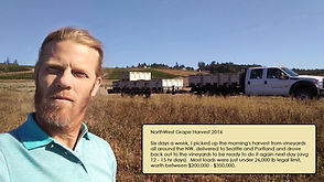 Bobby in Washington State Wine Country.  Grape loads valued at $200,000+ 7 days a week.