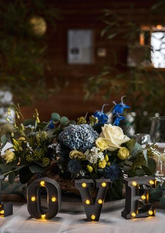 LOVE lumineux, table d'honneur mariae - location mariage - décoration de table - décoratrice de mariage - Landes