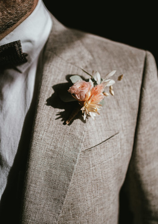 Boutonnière du marié - décoration florale - wedding planner - Landes - Dax - Mont de Marsan