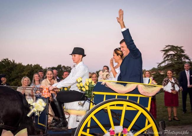 Mariage en calèche - organisation de mariage - Wedding planner - Dax - Landes 40