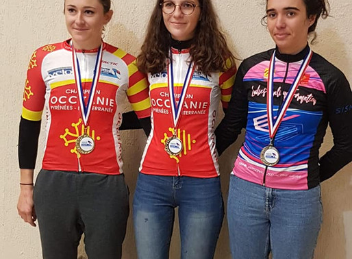 Camille Devi et ilona Feytou, championne régionale de cycloc-cross