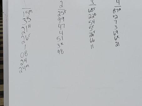 Line up 4/24/21