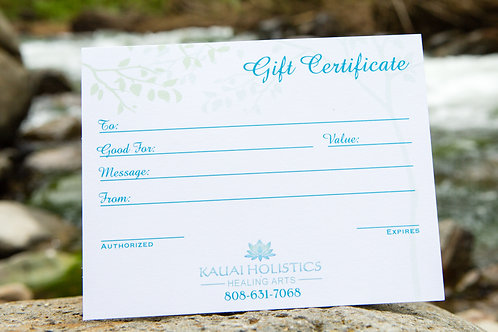 GIFT CERTIFICATE- MASSAGE 60 MINUTES