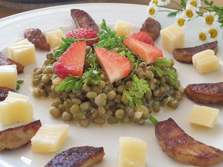 Mungobohnen-Salat mit neuen Kartoffeln und Sbrinz