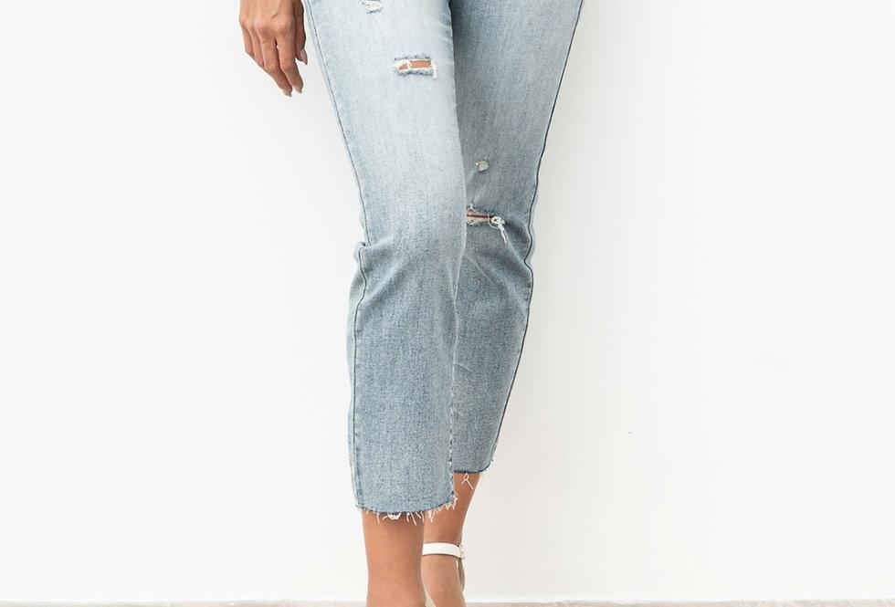 Jeans Talle Alto Corte Recto