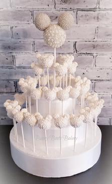 Minnie Bridal Wedding Cake Pops