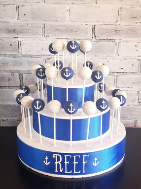 Anchor Baby Boy Nautical Baby Shower Cak