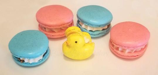 Ducky Baby Shower Gender Reveal Macarons