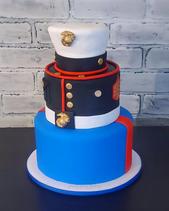 U.S. Marine Dress Blues Uniform Cake.png