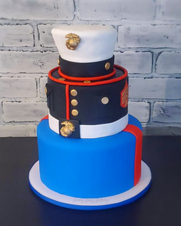 U.S. Marine Dress Blues Uniform Cake.png