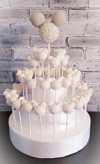 Minnie Bridal Wedding Cake Pop Display