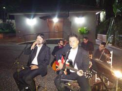 James e Rapha com a Orquestra Orpheu