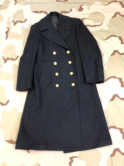 US Navy Wool Bridge Coat Long Pea Coat