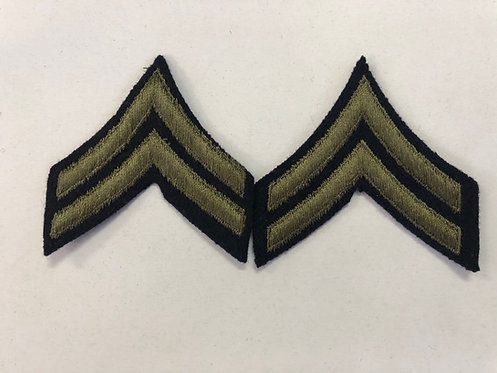 US Army WW2 Corporal Navy Wool Ranks - Pair