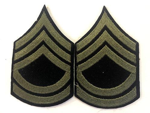 US Army WW2 Sergeant 1st Class Navy Wool Ranks - Pair