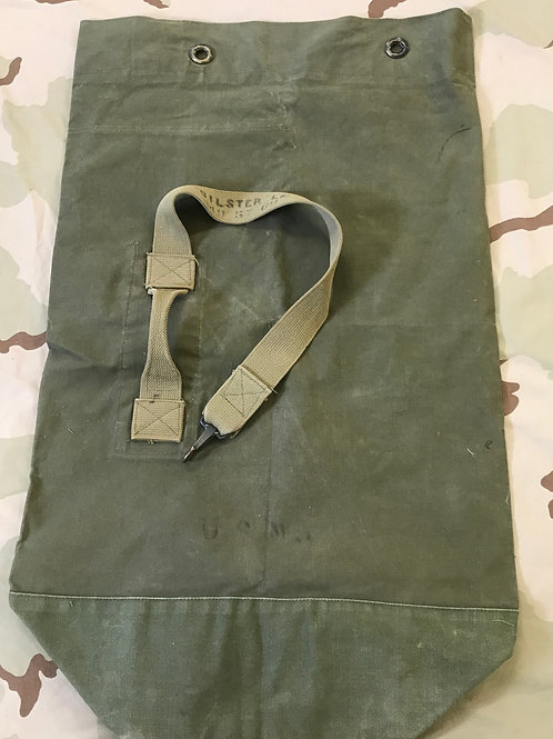 USMC Vietnam OD Green Canvas Duffel Bag
