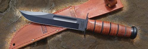 1217 USMC Ka-Bar Knife - Straight Edge