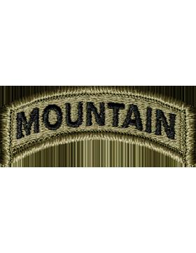 US Army Mountain Tab OCP Scorpion Patch