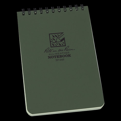 "946 Rite in the Rain Waterproof Green 4""x 6"" Notebook"