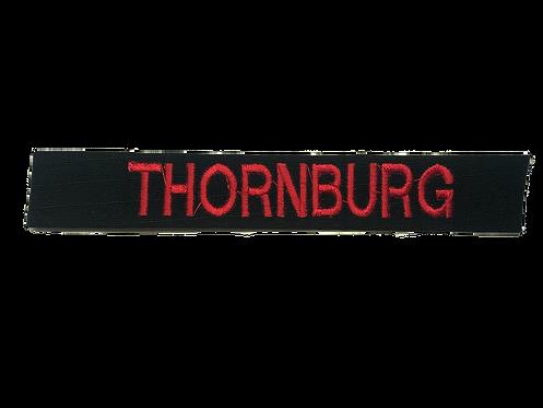 Custom Black Embroidered Name Tape
