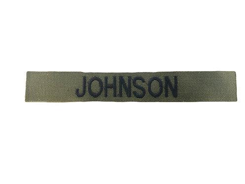Custom BDU Olive Green Embroidered Name Tape