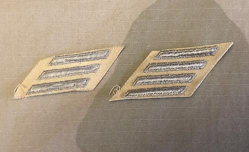 Vintage Khaki & Silver Service Stripes